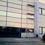 hővédő ablakfólia állványozva