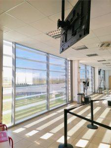repülőtéri váró hővédő ablakfólia